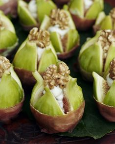 Gorgonzola filled figs, get the recipe @ http://www.underthealmondtree.com/2013/08/30/gorgonzola-filled-figs/