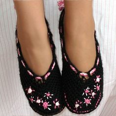 Ballet Slippers Women and Kids Pattern 1