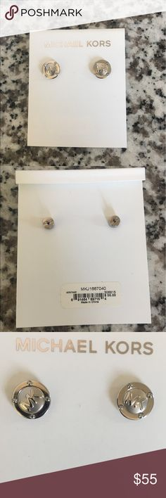 Authentic new Michael kors silver color earrings Michael kors new earings Michael Kors Jewelry Earrings