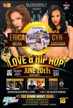 If you ever wanted a chance to meet and hang out with Love and Hip Hop's Erica Mena and Cyn Santana well here is it...