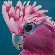 MY STYLE !!! Bird Painting Acrylic, Parrot Painting, Peacock Painting, Watercolor Paintings, Oil Painting Basics, Simple Oil Painting, Easy Canvas Painting, Canvas Art, Australian Art