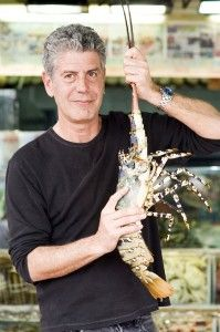 Anthony Bourdain, author of Kitchen Confidential.  Good book.  Read a review at http://readinginthegarden.blogspot.com/2013/05/kitchen-confidential-by-anthony-bourdain.html