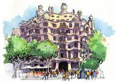 La Perdrera, batiment moderniste de Gaudi à Barcelone. A visiter si vous êtes de passage. #bcn #barcelona #barcelone