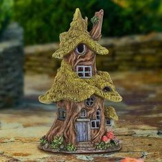 Solar Thatch Roof Fairy Tree House