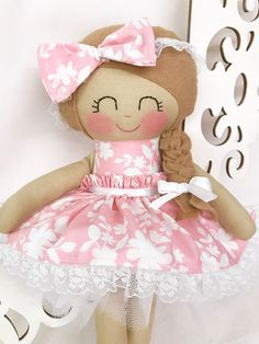 Handmade Doll Fabric Doll Girl Gift