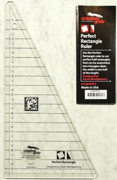 A ruler to create perfect half rectangle triangles - A Cool Tool Thursday post