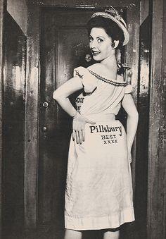 Flour sack fashion during depression era.