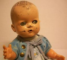 Vintage Super Odd Ideal Doll Haunted Zombie Baby Kinda Creepy But Cool Old   eBay