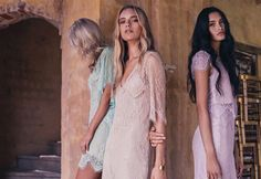 la nouvelle belle: maya, merethe and zoe by louise smit for grace loves lace bridesmaid campaign! Lace Bridesmaids, Bridesmaid Dresses, Wedding Dresses, Botanical Wedding Invitations, Grace Loves Lace, Chic Wedding, Her Style, Editorial Fashion, Fashion Show