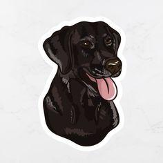Cute Labrador Puppies, Lab Puppies, Black Labs Dogs, Black Labrador Retriever, Dog Supplies, Cute Baby Animals, Dog Mom, Stickers, Laptop