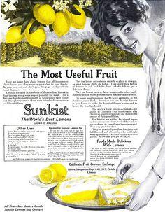 The most useful fruit! #lemons #vintage #Edwardian #food #ad