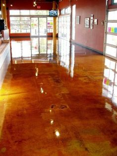 Stained Concret Floor ... love this !