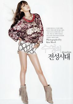 SooYoung in Isabel Marant, Harpers Bazaar Korea Kpop Fashion, Star Fashion, Korean Fashion, Fashion Outfits, Womens Fashion, Kawaii Fashion, Sooyoung Snsd, Mode Style, Girls Generation