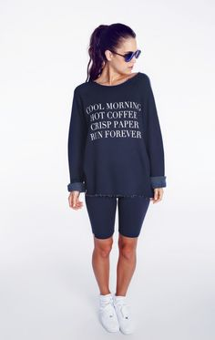 Wildfox Couture Run Forever Morning Sweatshirt Once I reach my fitness goal, I will spend the $110 on this sweatshirt.