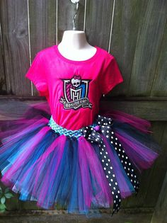 Monster High Tutu Outfit by DDarlinboutique on Etsy, $53.00