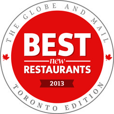 Sneak Peek at the Globe and Mail's Best New Restaurants in Toronto 2013 - unsweetened.ca