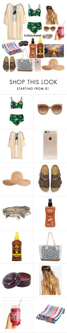 """#HolidayTravel"" by ellen2104 ❤ liked on Polyvore featuring STELLA McCARTNEY, Incase, Eugenia Kim, Birkenstock, Aéropostale, Hawaiian Tropic, Banana Boat, Billabong and Johnny Loves Rosie"