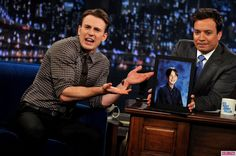 Chris Evans Childhood Photo On Late Night with Jimmy Fallon Lol