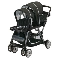 Graco Ready2Grow Click Connect Double Stroller - Licorice: This is the stroller I registered for :)