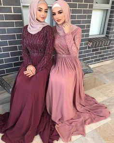 Muslim Prom Dress, Hijab Prom Dress, Hijab Evening Dress, Modest Evening Gowns, Long Sleeve Evening Dresses, Modest Dresses, Hijabi Gowns, Mode Abaya, Hijab Fashion Inspiration