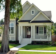 Absolutely PERFECT house plan for us - narrow lot, 2 car garage, 4 bedrooms (or 3 plus study), 3 1/2 bath, patio, porch, and rectangular build (less money to build than house with lots of corners) House plan featured image