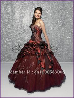 Burgundy Quinceanera ...    aliexpress.com
