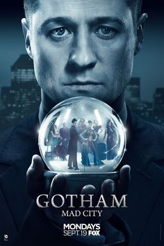 "Fox has released a new key art poster for Gotham Season 3. The post poster features Jim Gordon (Ben McKenzie) holding a snow globe full of Gotham City's villains. The poster features the tagline ""Mad [...]"