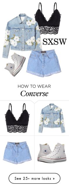 """""""Pack and Go: SXSW #5"""" by svs-selma-svs on Polyvore featuring Oysho, Rebecca Taylor, Converse, festivalstyle, Packandgo and SXSW"""