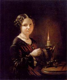 "В.Тропинин ""Девушка со свечой"""