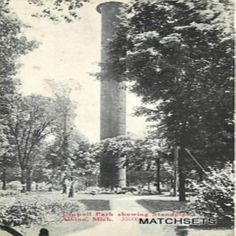 1921 ALBION, MICHIGAN Crowell Park showing Standpipe POSTCARD