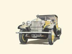 Car Illustration, Illustrations, Rolls Royce Phantom, Antique Cars, Automobile, Antiques, Drawings, Vehicles, Vintage
