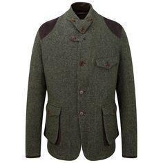 Men's Barbour Heritage Beacon Sports Tweed Jacket - Dark Green
