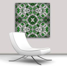 Emerald Flowers Canvas, $785, now featured on Fab.