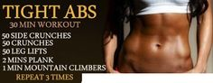 Tight Abs 30 Minute Workout