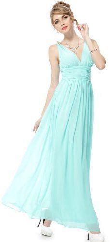 Ever Pretty Women's Elegant V-Neck Long Chiffon Crystal Maxi Evening Dress on shopstyle.com