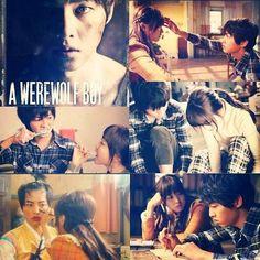 A Werewolf boy Song Joong Ki Cute, A Werewolf Boy, Cartoon Books, Park Bo Young, Boys Over Flowers, Strong Girls, Award Winner, I Fall In Love, Korean Drama