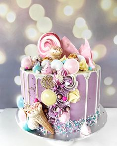Gorgeous Cakes, Pretty Cakes, Cute Cakes, Amazing Cakes, Candy Cakes, Cupcake Cakes, Drizzle Cake, Cake Decorating Techniques, Drip Cakes