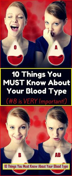 10 Things We All Need To Know About Our Blood Type !! http://ibeebz.com
