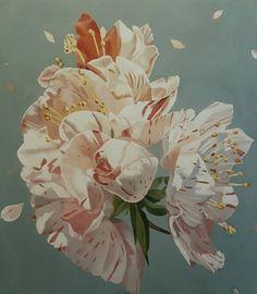 "Saatchi Art Artist Luigi Maria de Rubeis; Painting, ""camellia flower"" This artwork is sold ($1,540)"