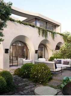 Mediterranean homes – Mediterranean Home Decor Dream Home Design, My Dream Home, Home Interior Design, Exterior Design, House Design, Exterior Homes, Mansion Interior, Future House, My House