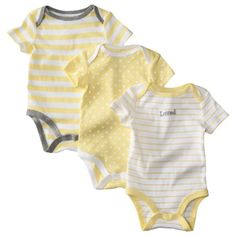 Circo® Newborn 3 Pack Short-Sleeve Assorted Bodysuit Set