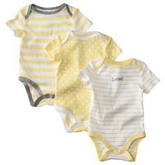 Circo® Newborn 3 Pack Short-Sleeve Assorted Bodysuit Set