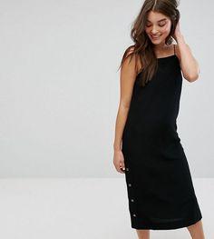 Monki Side Popper Slip Dress