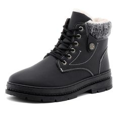a4f7f61e9473c FIDANEI Men Winter Snow Boots Shoes With Fur Warm Mens Winter Boots Work  Shoes Men Footwear