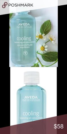 Aveda Cooling Balancing Oil 1.7 Fl Oz New In Box Massage this lightweight oil into sore, achy muscles to help reduce tension and deliver cooling refreshment to your skin and senses. Cooling aromaology with certified organic peppermint, blue camomile and naturally derived menthol refreshes the senses. Aveda Other