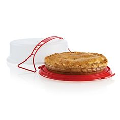 The perfect way to store your pie plus you have a handle to make transporting your pie to picnics, reunions, church socials, etc easy. Tupperware Consultant, Baked Goods, Handle, Canning, Big, Easy, Reunions, Recipes, Picnics