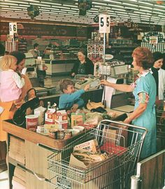 Safeway 1967. Remember standing in line to make sure you got your favorite checker because she had memorized most of the prices in the store so checkout was lots faster?