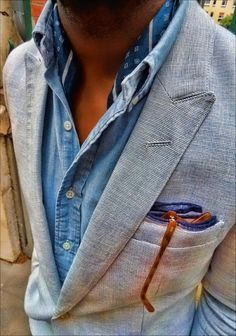 Chambray is the perfect material for summertime or for layering because of its lightweight quality. Be inspired by the chambray and denim shirts collection.