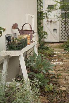 simple but great Garden Paths, Garden Art, Garden Landscaping, Small Outdoor Spaces, Garden Junk, Potting Sheds, Outdoor Living, Outdoor Decor, Green Garden