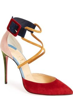 CHRISTIAN LOUBOUTIN Marlenalta Leather 150Mm Red Sole Pump, Nude ...